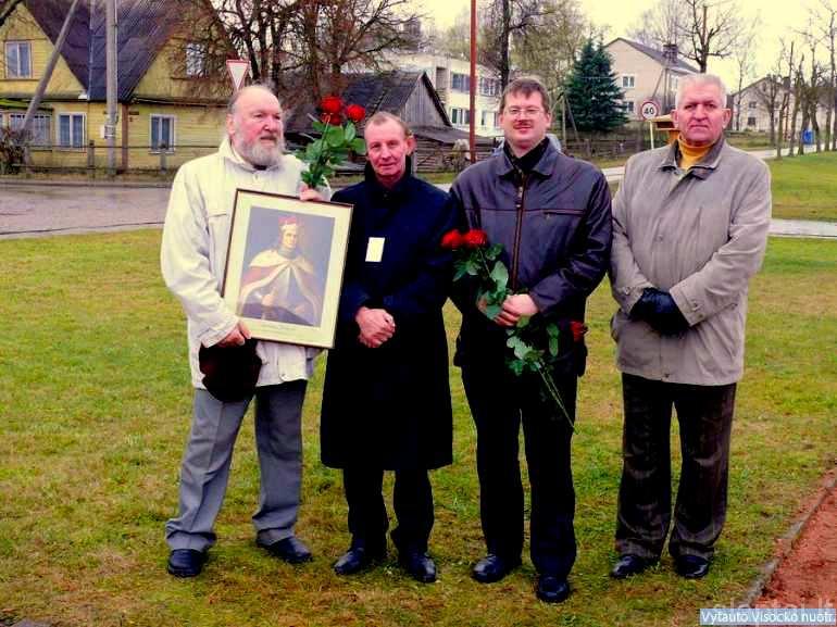 Aktorius T. Vaisieta su Vilniaus Vytautų klubo nariais V. Baubliu, V. Račkausku ir V. Petniūnu