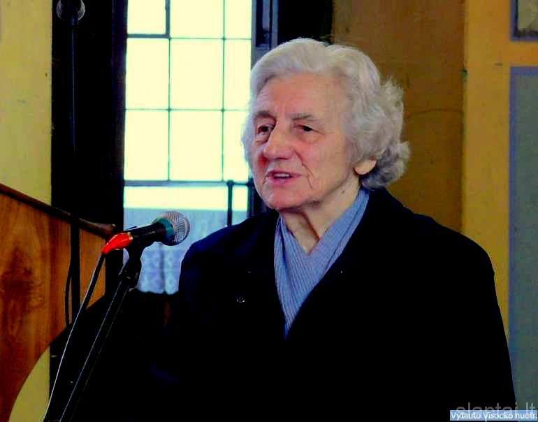Kalba humanitarinių mokslų daktarė Petronėlė Česnulevičiūtė