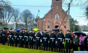 Iškilmėse dalyvavo ir Lietuvos kariai