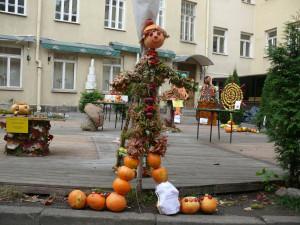 Skulptūra iš svogūnų. Vytauto Visocko nuotr.