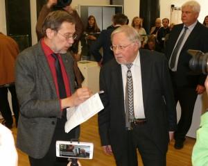Kovo 11-osios Akto signataras prof. Vytautas Landsbergis ir prof Liudas Mažylis