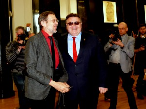 Laimingi ir prof. L.Mažylis, ir ministras L.Linkevičius