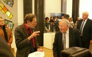 prof. Vytautas Landsbergis ir prof. Liudas Mažylis. Vytauto Visocko (Slaptai.lt) nuotr.