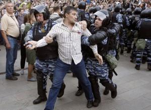 Rusijoje išvaikomas protesto mitingas (3)