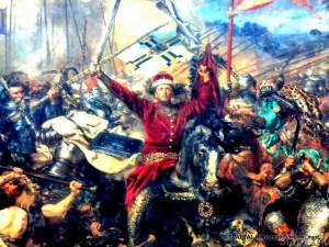 J.Mateikos paveikslo - Žalgirio mūšis - fragmentas