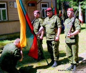 Nemunaitis. Priesaika prie istorinio namo, kuriame prisiekė A.Ramanausko-Vanago partizanai