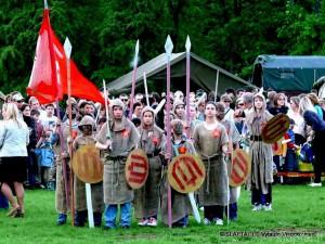 Vingio parke - jaunieji Žalgirio kariai