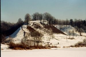 Alytaus piliakalnis žiemą