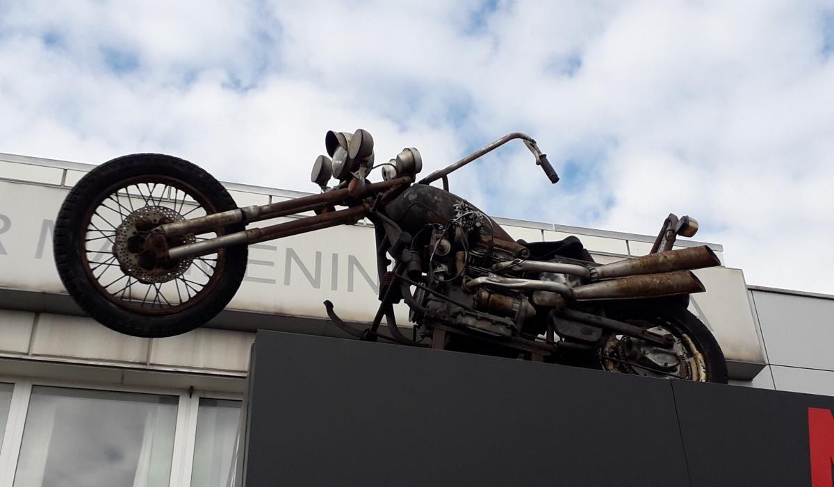 Senas motociklas. Slaptai.lt foto