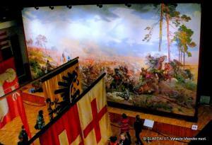 Didžiausias Žalgirio mūšio paveikslas Radvilų rūmuose