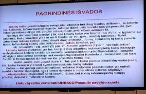 Lietuvių kalba verta būti UNESCO Pasaulio paveldo sąraše