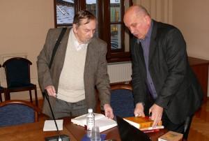 Prof. O.Poliakovas ir lituanistas Vaclovas Mikailionis