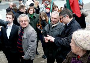 Filosofas Vytautas Radžvilas ir politologas Alvydas Medalinskas