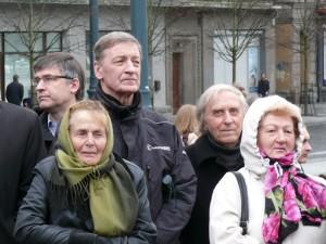 Politologas Alvydas Medalinskas, dailininkas Arvydas Šaltenis ir poetasJonas  Juškaitis
