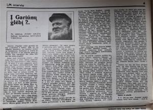 Juozas Aputis ragina nepulti į Gariūnų glėbį