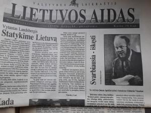 Juozas Aputis ragina turėti kantrybės...