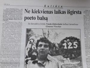 Vanda Zaborskaitė, literatūros kritikė