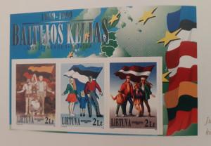 Pašto ženklai Baltijos kelio tema
