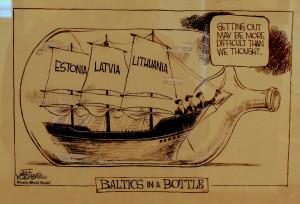 Sovietinę okupaciją smerkianti karikatūra