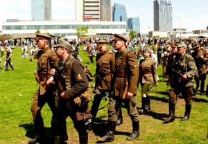 Tokias uniformas dėvėjo Lietuvos partizanai. Vytauto Visocko nuotr.