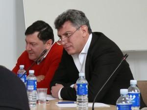 Emanuelis Zingeris ir Borisas Nemcovas