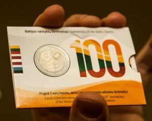Moneta, skirta Baltijos šalių šimtmečio garbei