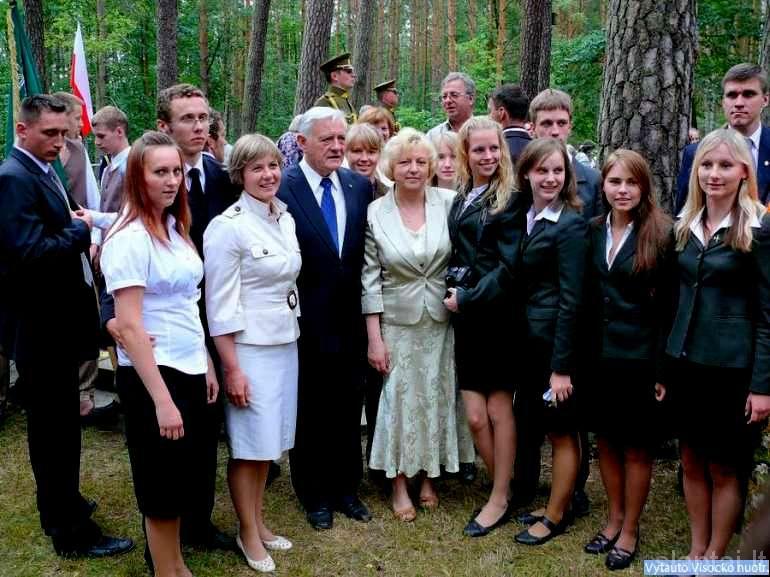 Soldinas. Prezidentas V. Adamkus su dalyviais