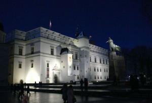 Vilnius naktį. Vytauto Visocko (Slaptai.lt) nuotr.