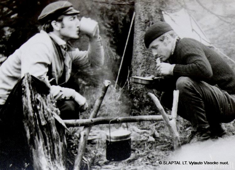 V.Visockas ir V.Račkaitis Karpatuose