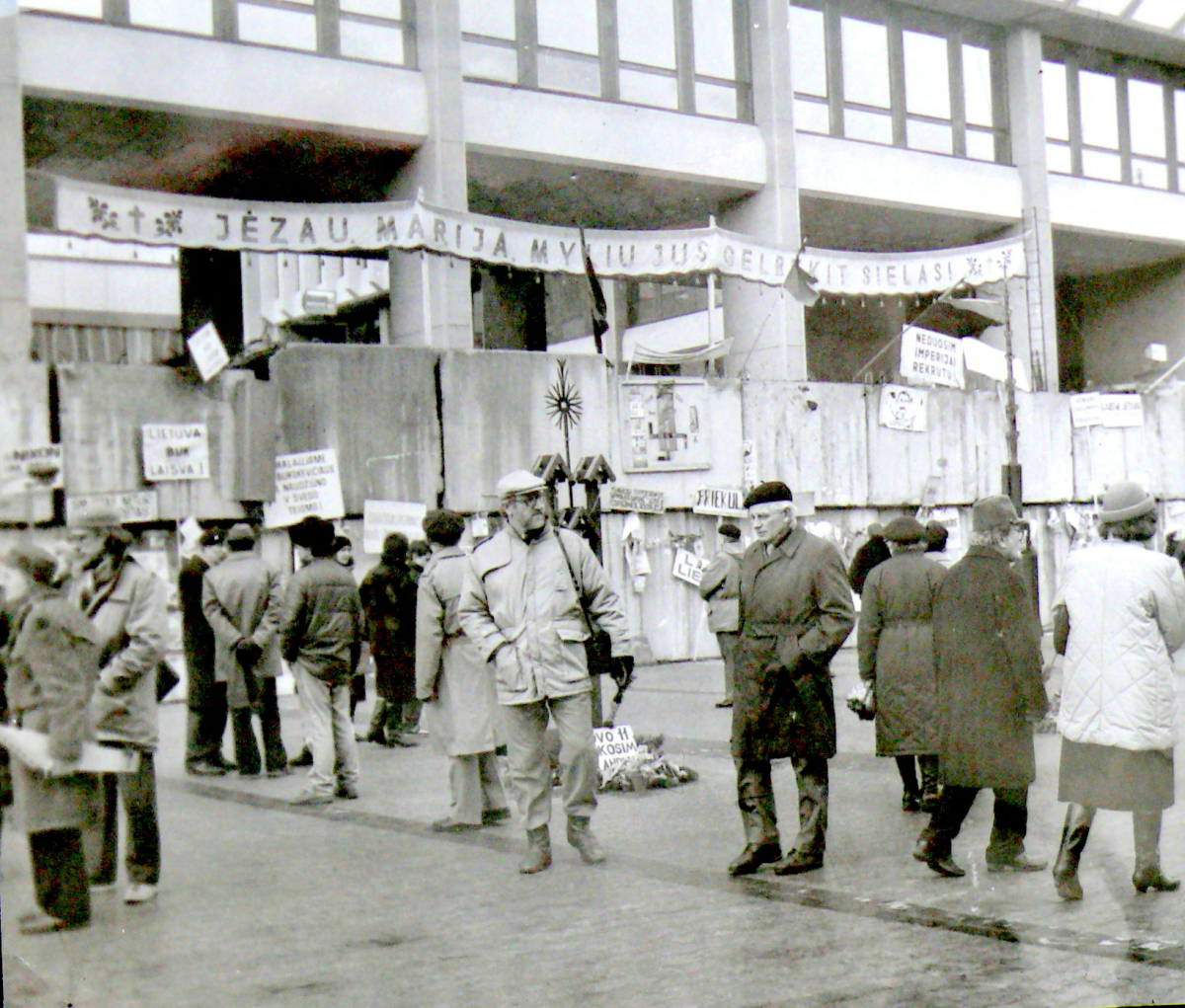 1991-ųjų sausis. Prie parlamento