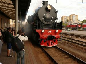 Traukinys. Vytauto Visocko nuotr.