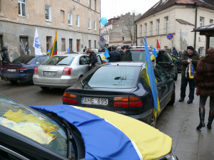 Užupis švenčia Ukrainos nepriklausomybę. V.Visocko foto