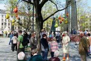 Vinco Kudirkos aikštėje - pavasarinis šurmulys