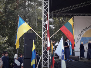 Ukrainos ir Lietuvos vėliava. Slaptai.lt nuotr.