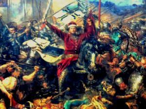 J.Mateikos paveikslo Žalgirio mūšis fragmentas